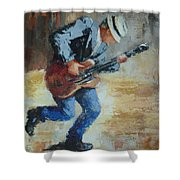 Street Musician Shower Curtain