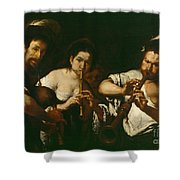 Street Musicians Shower Curtain