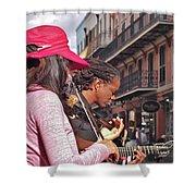 Street Musicians Shower Curtain