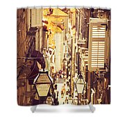 Street Of Dubrovnik Old Town Shower Curtain