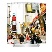 Street Of New York City Shower Curtain