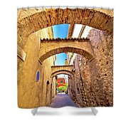 Street Of Sirmione Historic Architecture View Shower Curtain
