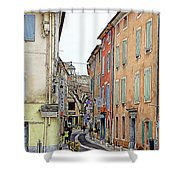 Street Orange, France Shower Curtain