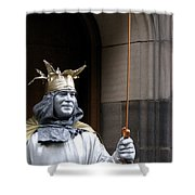 Street Performer Shower Curtain