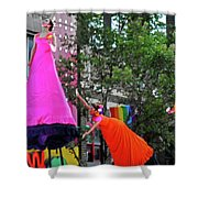 Street Performers 1 Shower Curtain