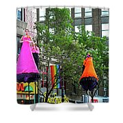 Street Performers 2 Shower Curtain