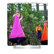 Street Performers 4 Shower Curtain