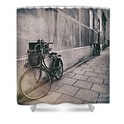 Street Photo Bicycle Shower Curtain