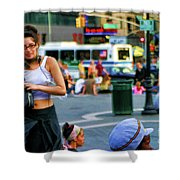 Street Photography Nyc Paint  Shower Curtain