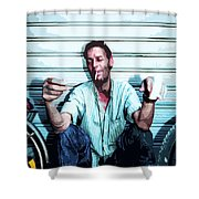 Street Pirates Italy Shower Curtain