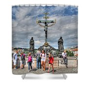 street Praha Chehia Shower Curtain