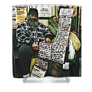 Street Preacher On The A Train Shower Curtain