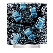 Street Racers Gps Shower Curtain