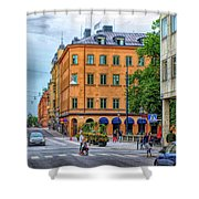 Drottninggatan Street Scene  Shower Curtain