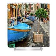 Street Scene Manarola Italy Dsc02634 Shower Curtain