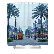 Street Scene, New Orleans Shower Curtain