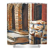 Street Scene Oil Painting Shower Curtain