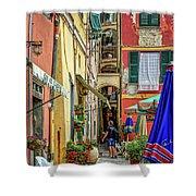 Street Scene Vernazza Italy Dsc02651 Shower Curtain