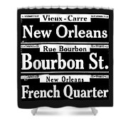 Street Sign Scenes Of New Orleans Shower Curtain