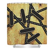 Street Skating Background Shower Curtain