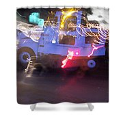 Street Sweeper Shower Curtain