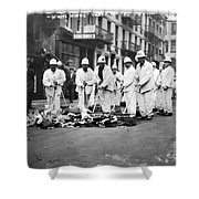 Street Sweepers, 1911 Shower Curtain