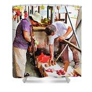 Street Vendors 1 Shower Curtain