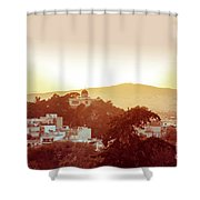 Street View Of Old Buildings In Athens, Greece Shower Curtain