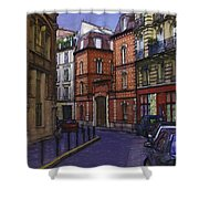 Street View Of Paris Shower Curtain