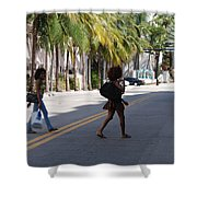 Street Walkers Shower Curtain