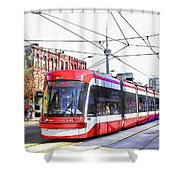 Streetcar On Spadina Avenue #17 Shower Curtain