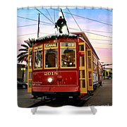 Streetcar Sunset Shower Curtain