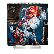 Streets And Art In Colour. Shower Curtain