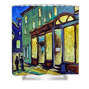 Streets At Night Shower Curtain