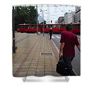 Streets Of Belgrade Shower Curtain