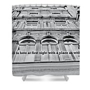 Streets Of London Quote Shower Curtain