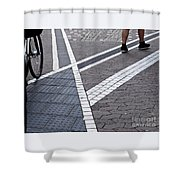 Streets Of Mainz 1 Shower Curtain