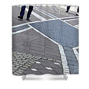 Streets Of Mainz 2 Shower Curtain