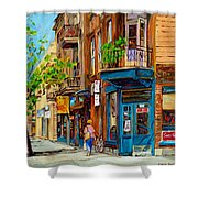 Streets Of Montreal Over 500 Prints Available By Montreal Cityscene Specialist Carole Spandau Shower Curtain