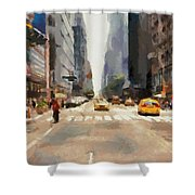 Streets Of New York Shower Curtain