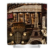 Streets Of Paris Shower Curtain