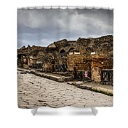 Streets Of Pompeii - 1a Shower Curtain