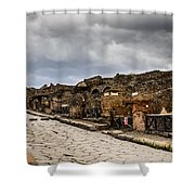 Streets Of Pompeii Shower Curtain