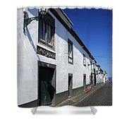 Streets Of Ribeira Grande Shower Curtain