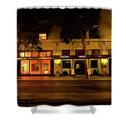 Streets Of San Jose, Ca Midnight Shower Curtain