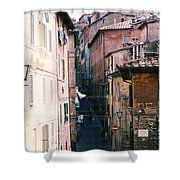 Streets Of Siena Photograph Shower Curtain