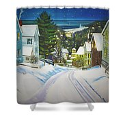 Streets Of Snow Shower Curtain