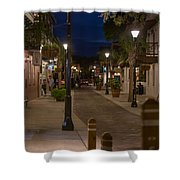 Streets Of St. Augustine At Night Shower Curtain