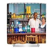 Streetside Welcome - Faces Of Havana Shower Curtain