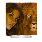 Strenght And Tenderness Shower Curtain